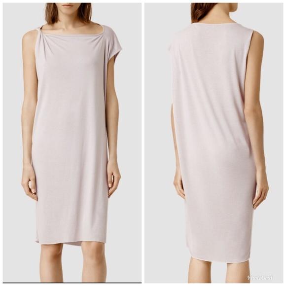 All Saints Dresses & Skirts - [AllSaints] Cay Asymmetrical Raw Hem Dress